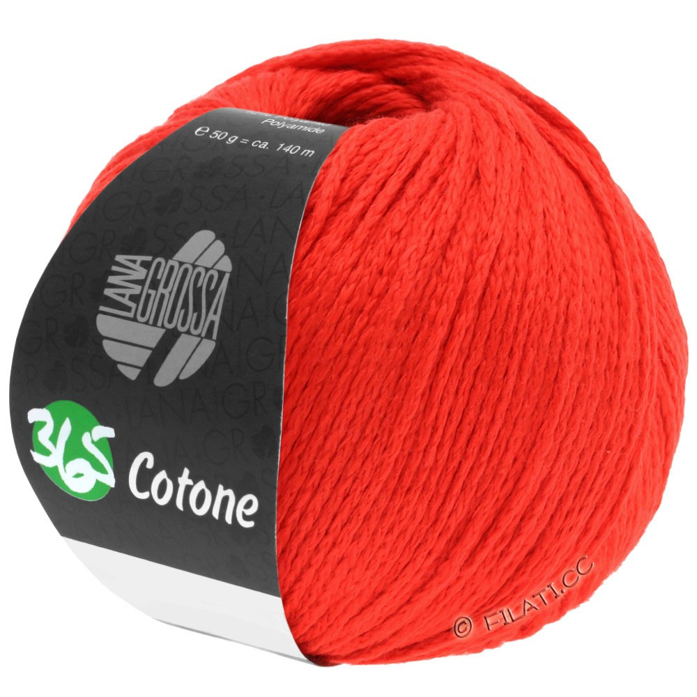Lana Grossa 365 COTONE | 50-rouge brillant