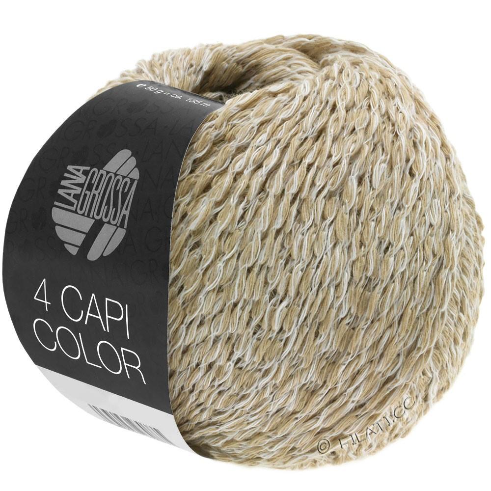 Lana Grossa 4 CAPI Color | 101-blanc/beige