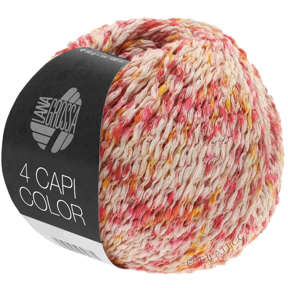 Lana Grossa 4 CAPI Color | 105-nature/rouge/jaune soleil/rose vif