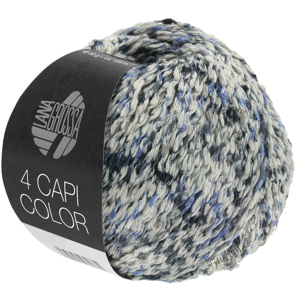 Lana Grossa 4 CAPI Color | 107-nature/jean/bleu foncé/gris
