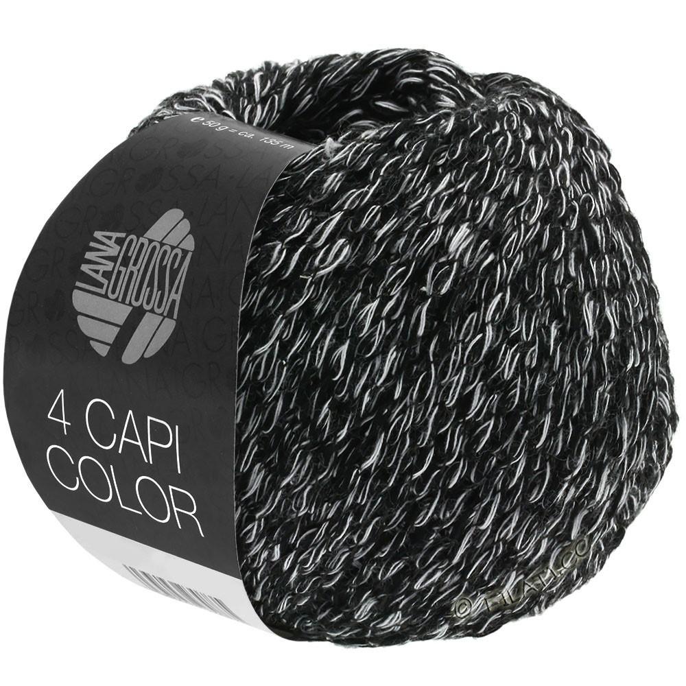 Lana Grossa 4 CAPI Color | 108-noir/blanc
