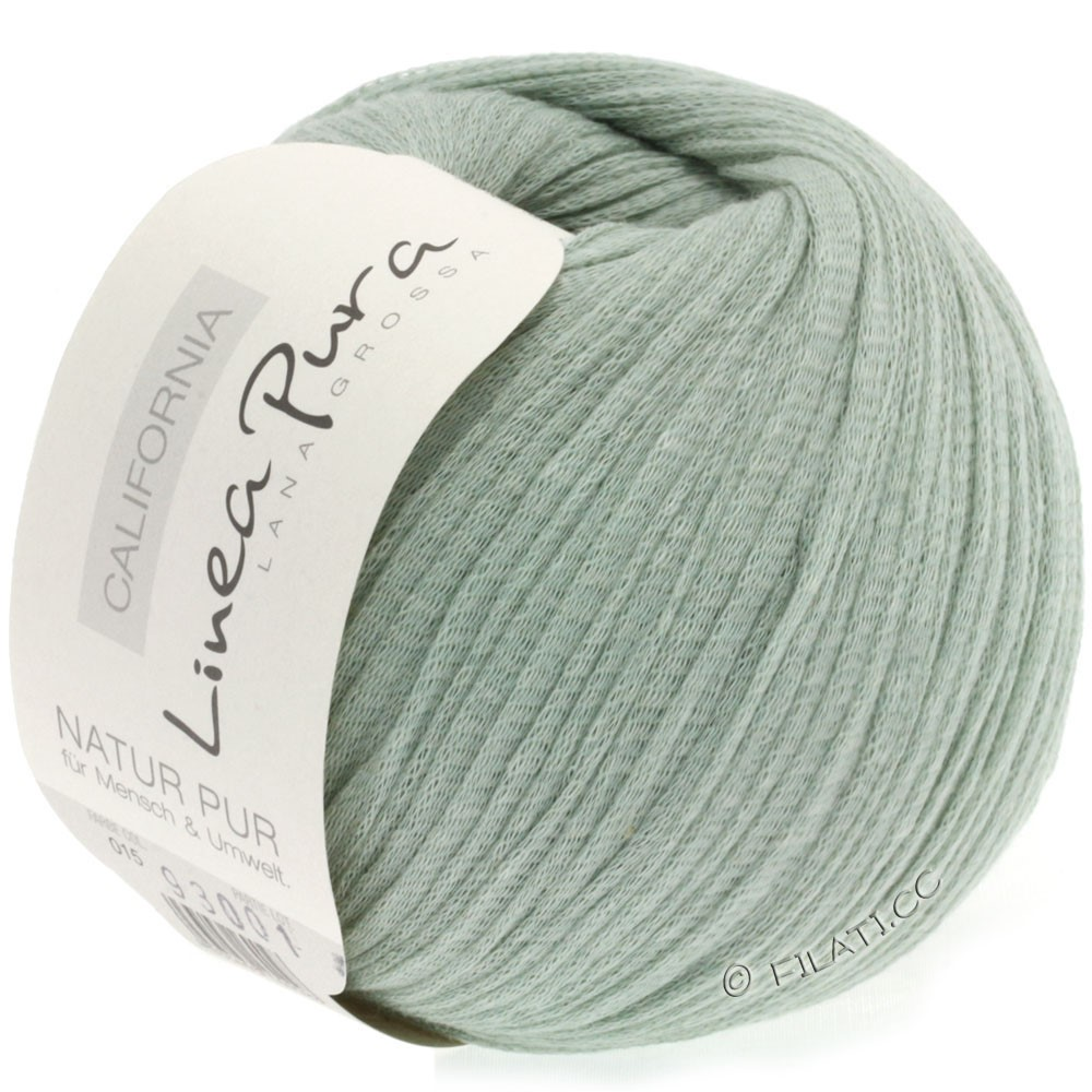 Lana Grossa CALIFORNIA Uni/Print (Linea Pura) | 015-gris vert