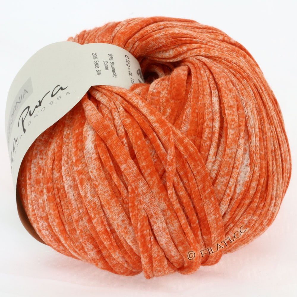 Lana Grossa CALIFORNIA Uni/Print (Linea Pura) | 204-corail chiné