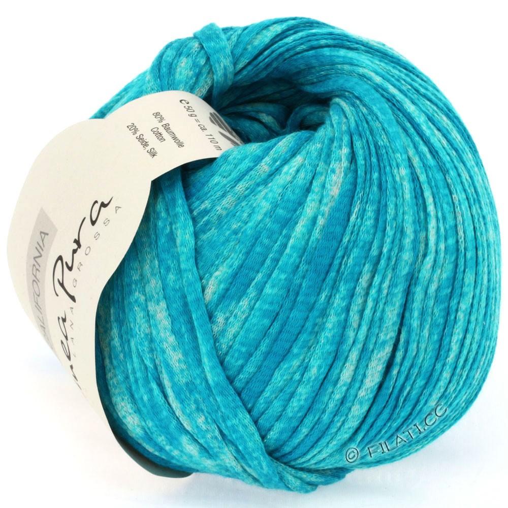 Lana Grossa CALIFORNIA Uni/Print (Linea Pura) | 206-turquoise chiné