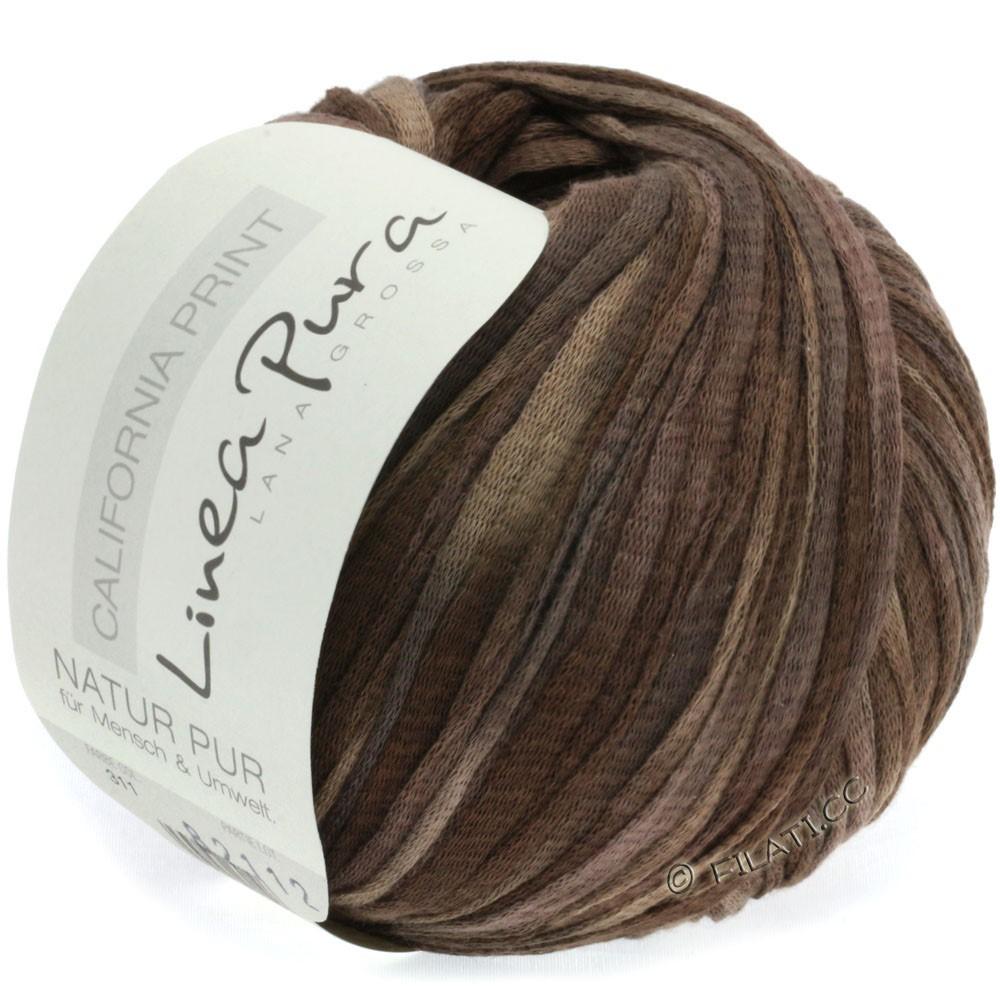 Lana Grossa CALIFORNIA Uni/Print (Linea Pura) | 311-brun gris/moka