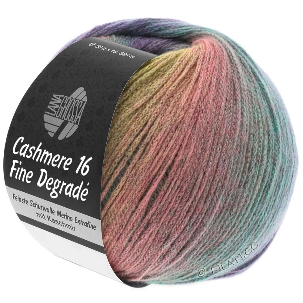 Lana Grossa CASHMERE 16 FINE Uni/Degradé | 101-jaune tendre/gris clair/rose/menthe