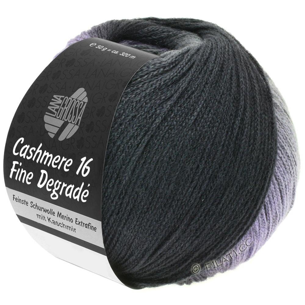 Lana Grossa CASHMERE 16 FINE Uni/Degradé | 102-gris foncé/anthracite/noir