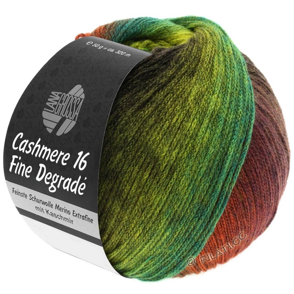 Lana Grossa CASHMERE 16 FINE Uni/Degradé | 103-brun rouge/kaki/vert jaune/vert mai/mûre