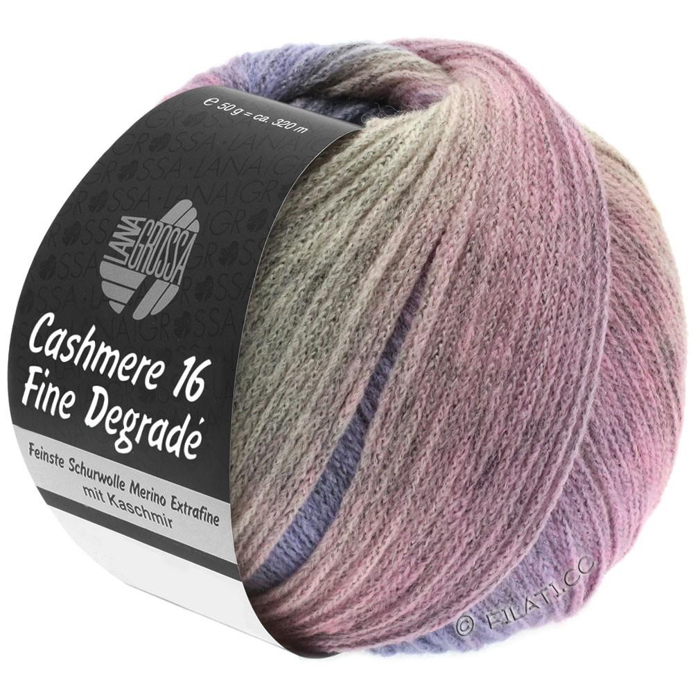 Lana Grossa CASHMERE 16 FINE Uni/Degradé | 110-rose gris/pourpre/rosé