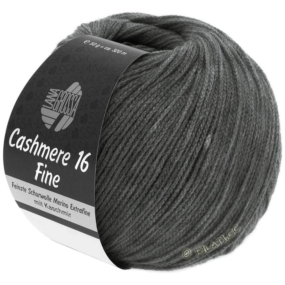 Lana Grossa CASHMERE 16 FINE Uni/Degradé | 016-gris foncé