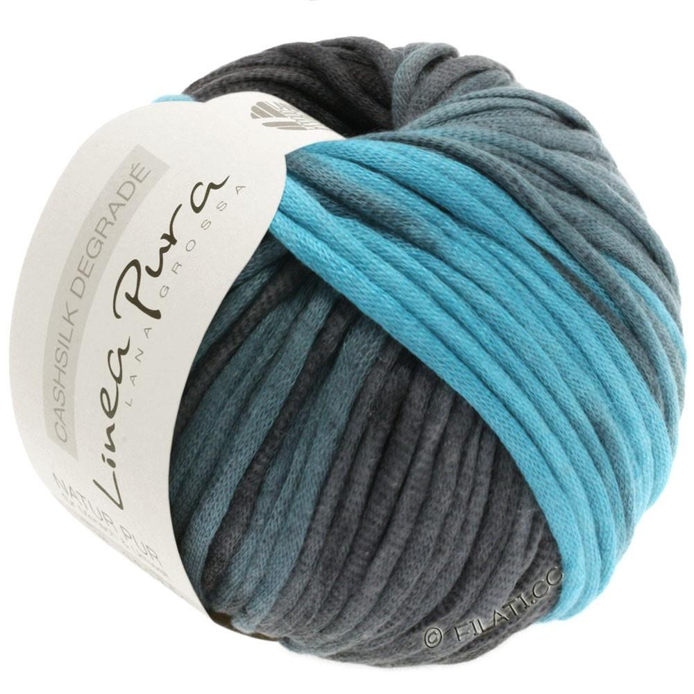 Lana Grossa CASHSILK Degradé (Linea Pura) | 104-turquoise clair/menthe/gris vert/anthracite