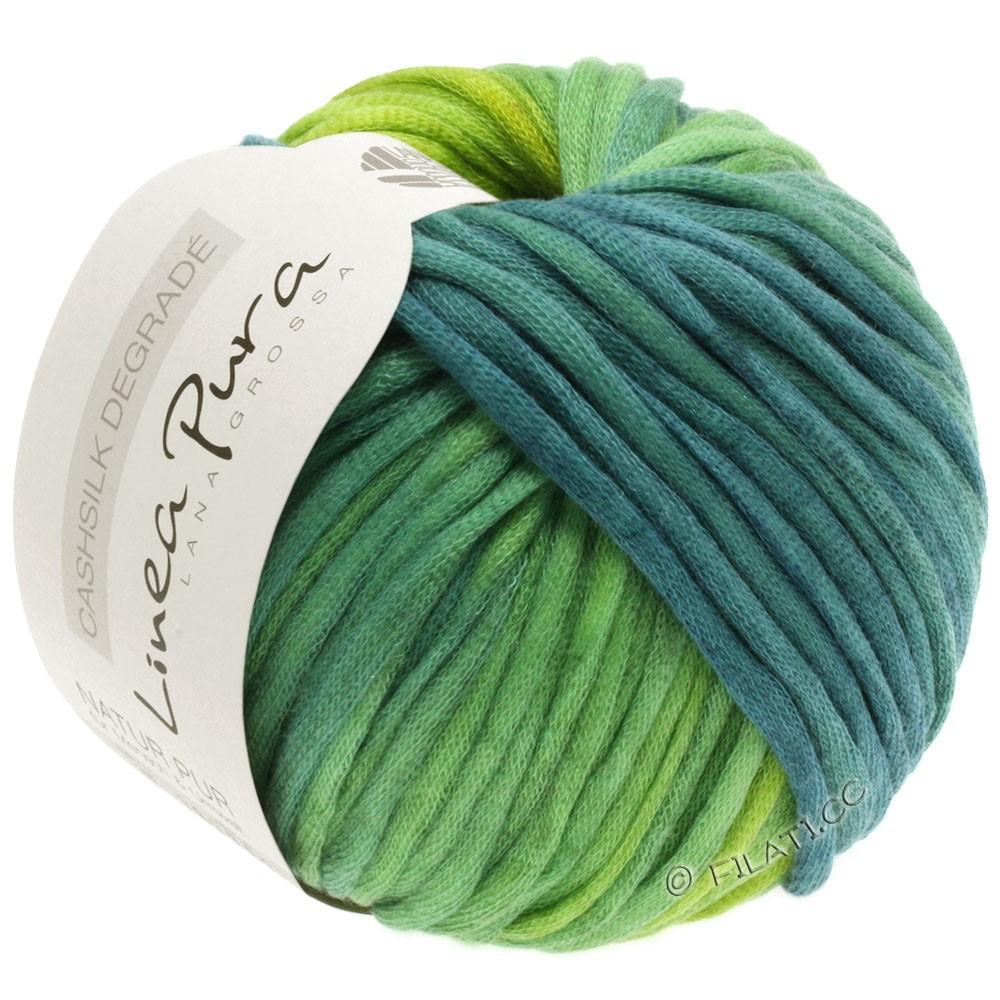 Lana Grossa CASHSILK Degradé (Linea Pura) | 106-vert jaune/turquoise menthe/pétrole