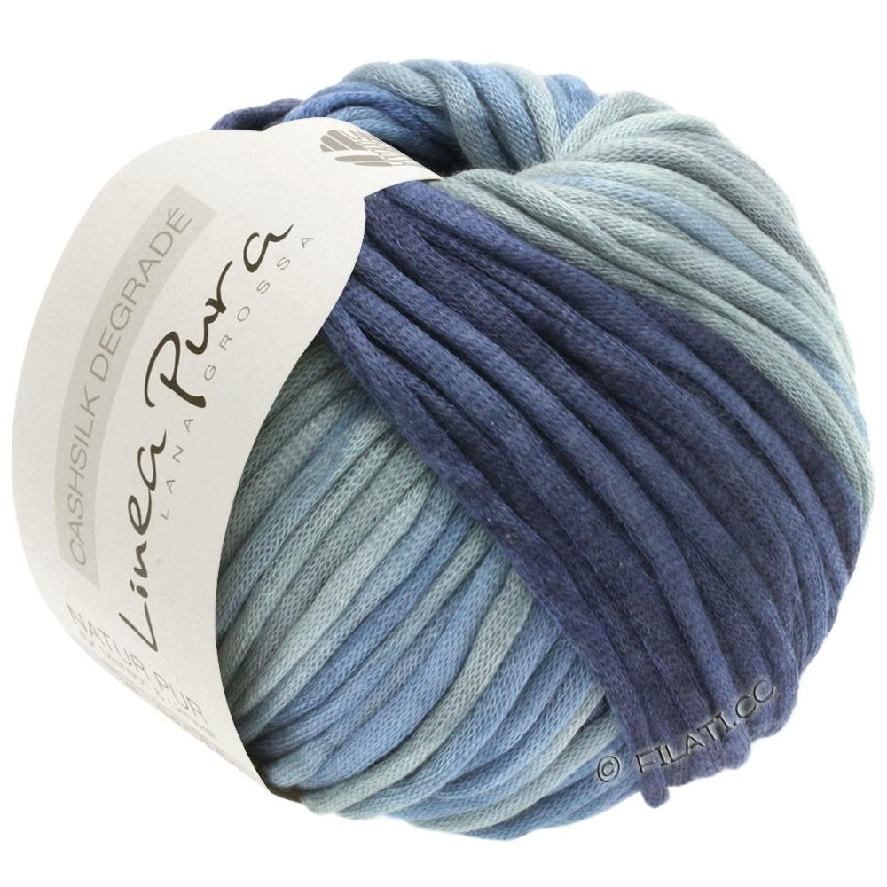 Lana Grossa CASHSILK Degradé (Linea Pura) | 111-gris bleu/jean/bleu acier/bleu nuit