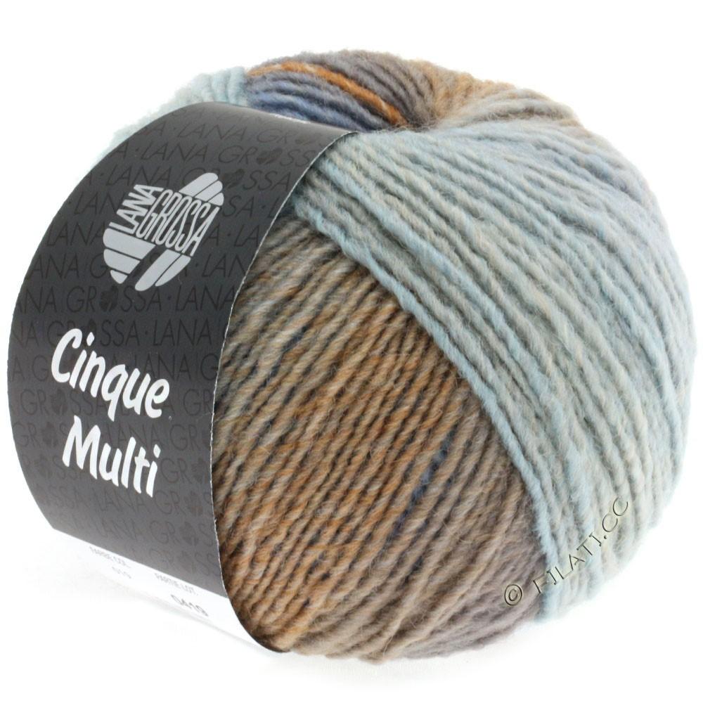 Lana Grossa CINQUE MULTI | 19-bleu clair/beige/bleu gris/taupe/grège chiné