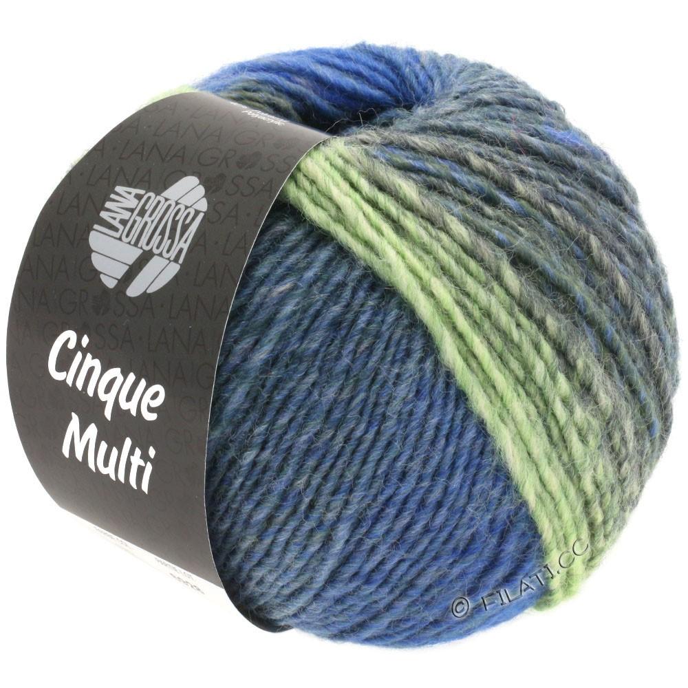 Lana Grossa CINQUE MULTI | 25-pétrole/royal/anthracite/turquoise/vert clair/gris vert chiné