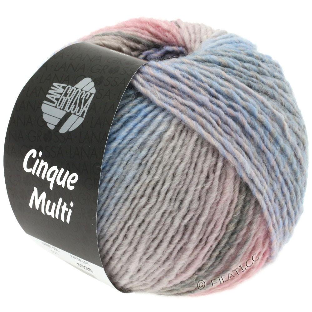 Lana Grossa CINQUE MULTI | 27-violet/rose/beige/gris/bleu clair/grège chiné