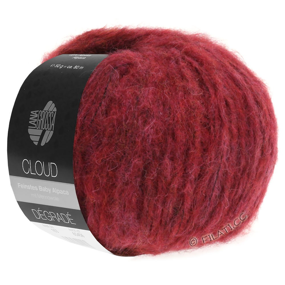 Lana Grossa CLOUD Dégradé | 104-violet rouge/rouge brique