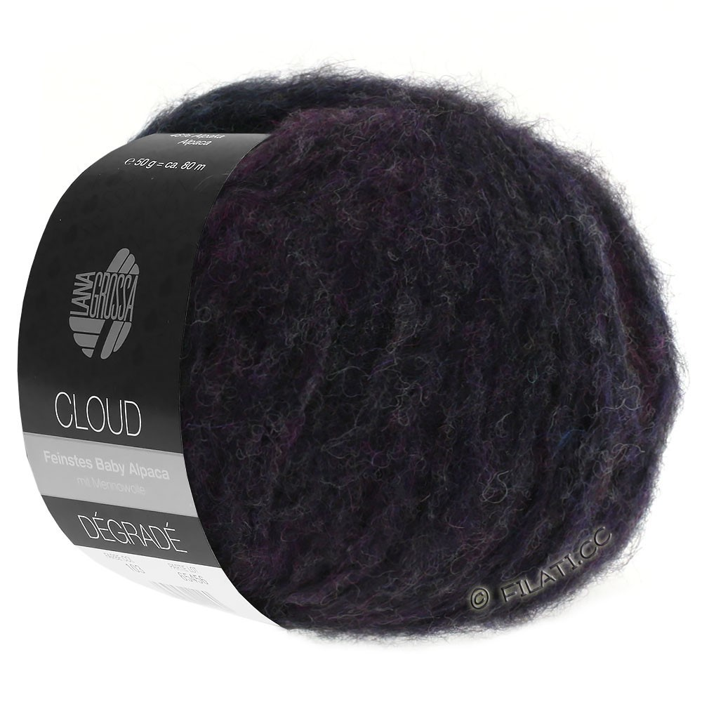 Lana Grossa CLOUD Dégradé | 106-violet bleu/kaki