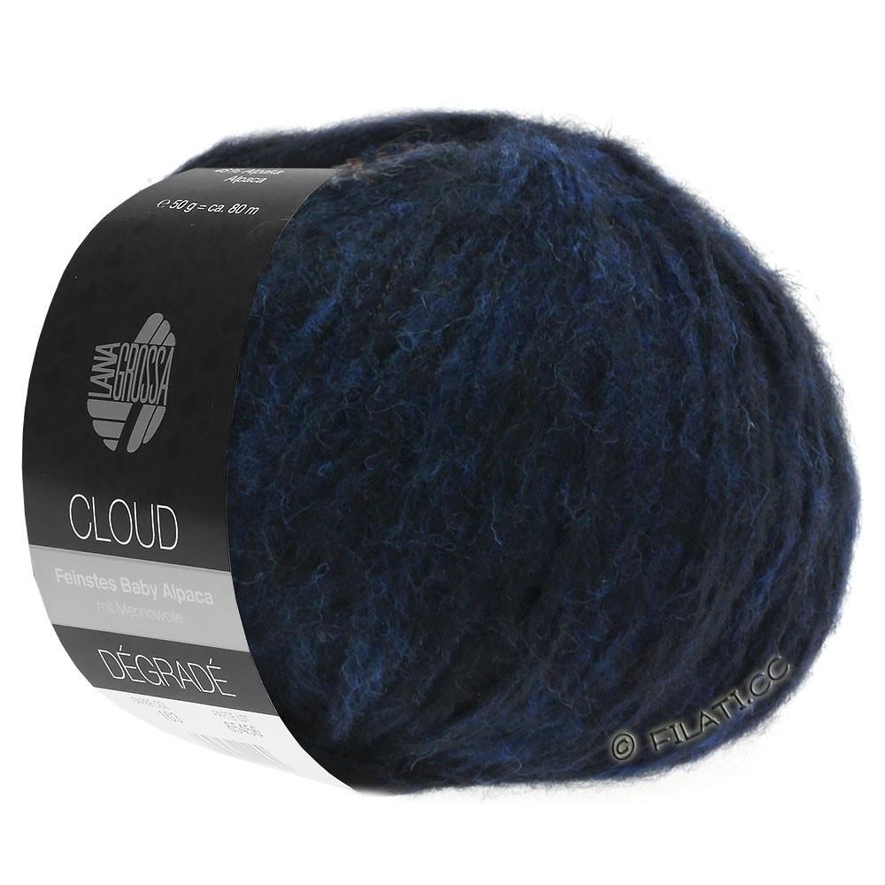 Lana Grossa CLOUD Dégradé | 107-bleu nuit/noir