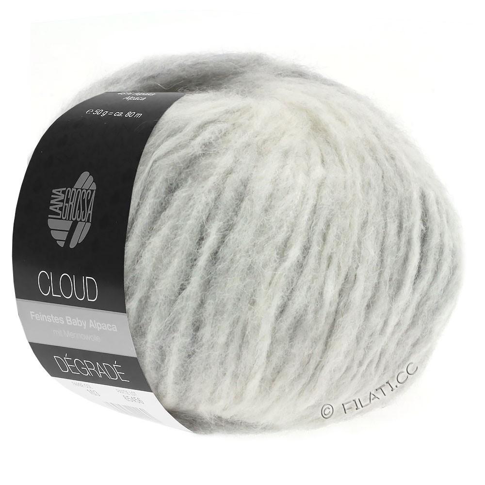 Lana Grossa CLOUD Degradé | 110-gris clair/écru