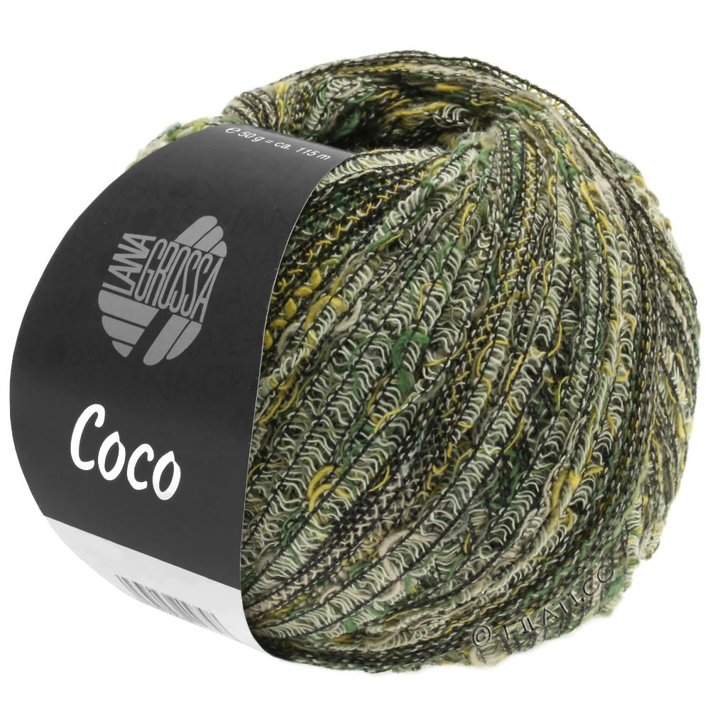 Lana Grossa COCO | 04-nature/moutarde/vert gris