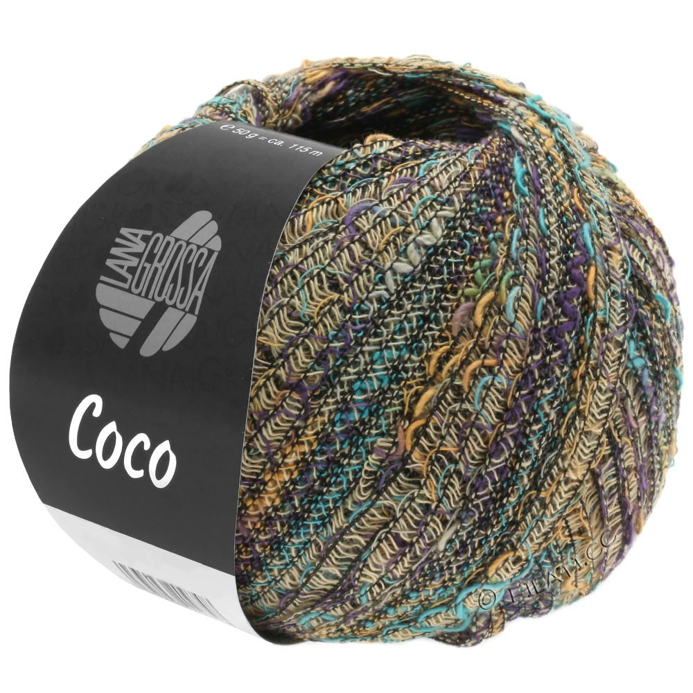 Lana Grossa COCO | 05-beige/chameau/turquoise/violet