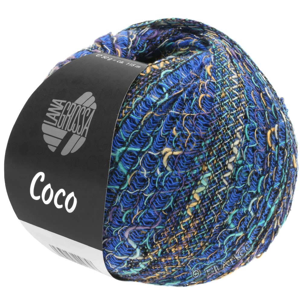 Lana Grossa COCO | 07-bleu/gris clair/turquoise/pourpre/sable