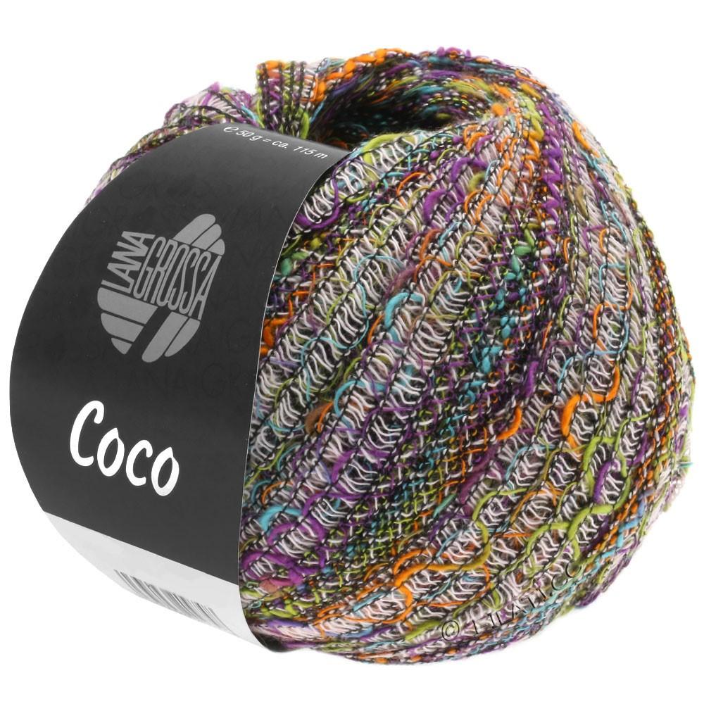 Lana Grossa COCO | 10-orange/turquoise/rose/pistache/violet