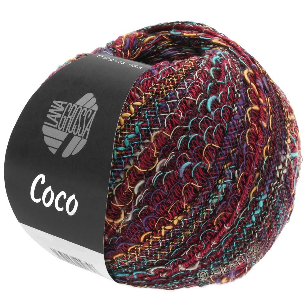 Lana Grossa COCO | 12-bordeaux/turquoise/chameau/violet