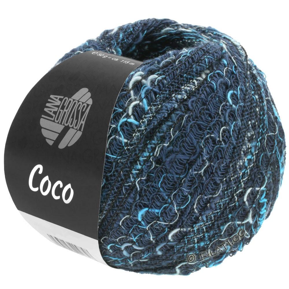 Lana Grossa COCO | 17-marine/bleu clair/turquoise bleu