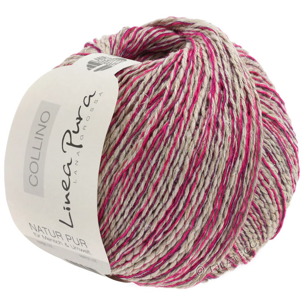 Lana Grossa COLLINO (Linea Pura) | 06-lin/cyclamen/violet foncé