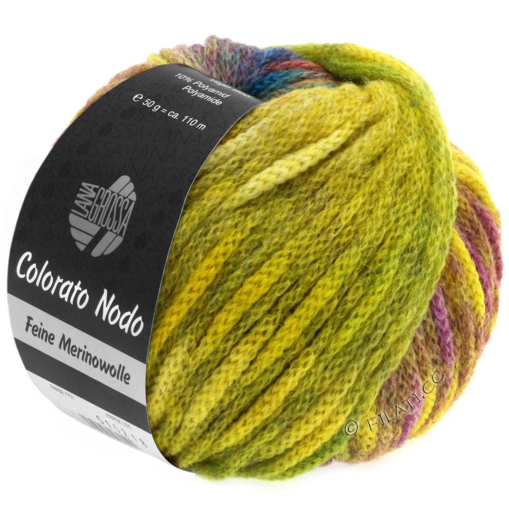 Lana Grossa COLORATO NODO   101-jaune/vert/baies/vert clair/bleu/sapin