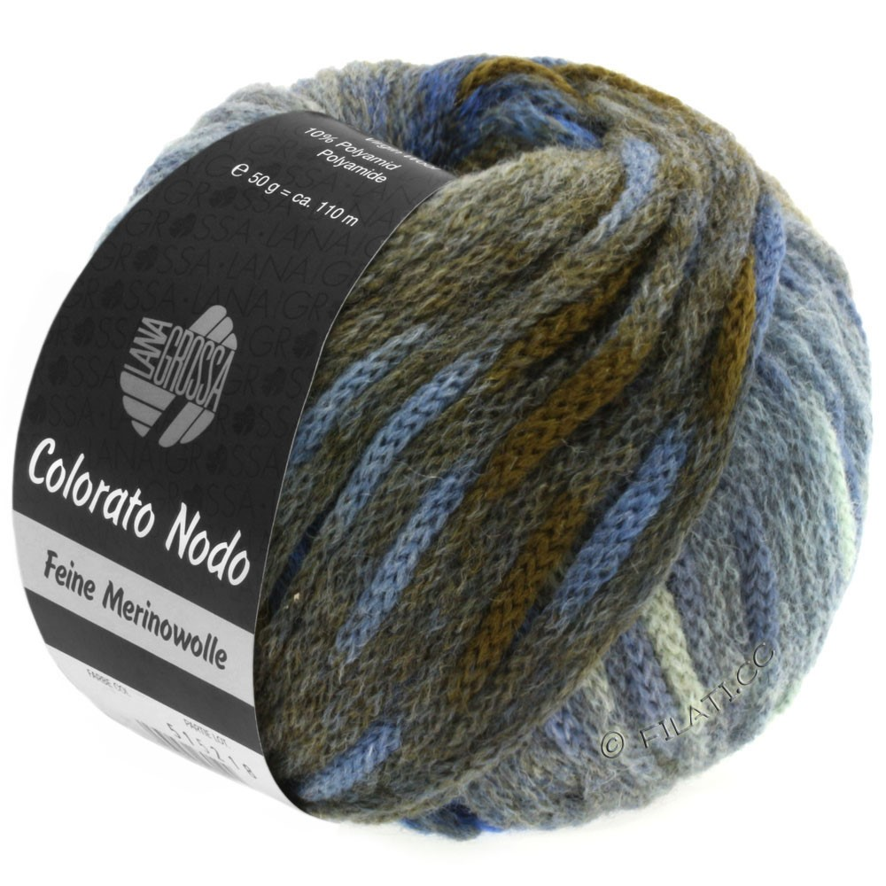Lana Grossa COLORATO NODO   106-bleu gris/bleu pigeon/anthracite/royal/kaki