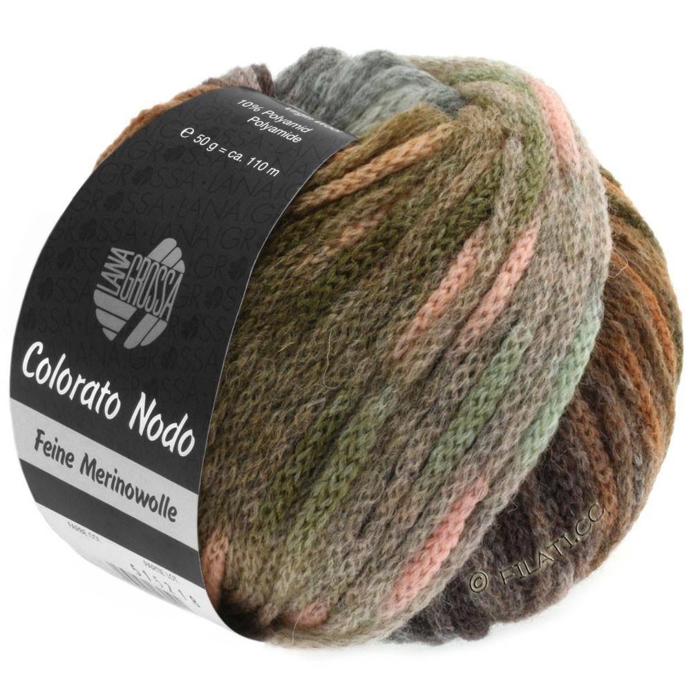 Lana Grossa COLORATO NODO   107-kaki/brun noisette/menthe/rosé/gris vert