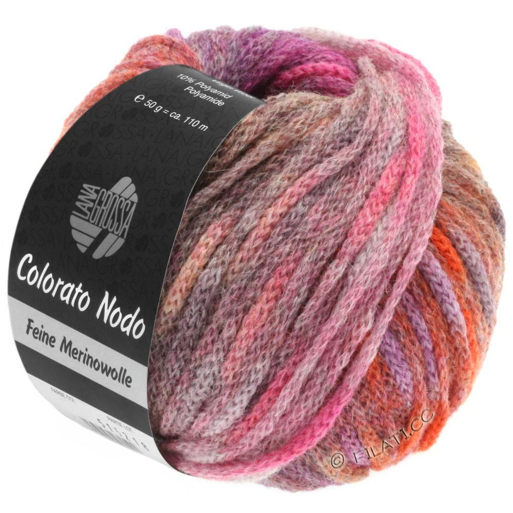 Lana Grossa COLORATO NODO   112-violet rouge/violet bleu/pétrole/orange/cuivre