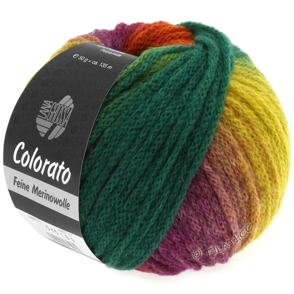 Lana Grossa COLORATO | 001-jaune/vert clair/vert/turquoise/gris vert