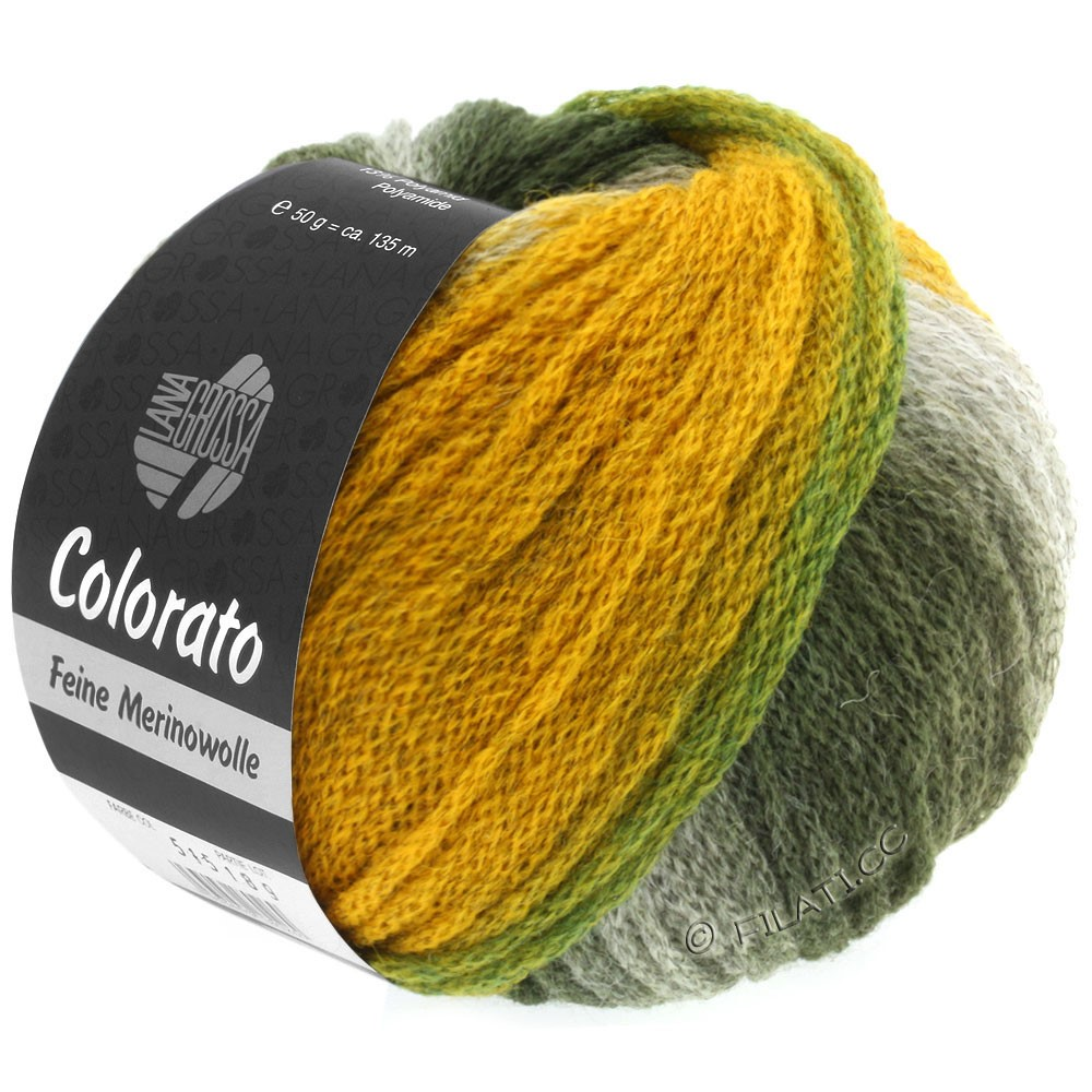 Lana Grossa COLORATO | 003-vert poison/gris vert/pétrole/menthe