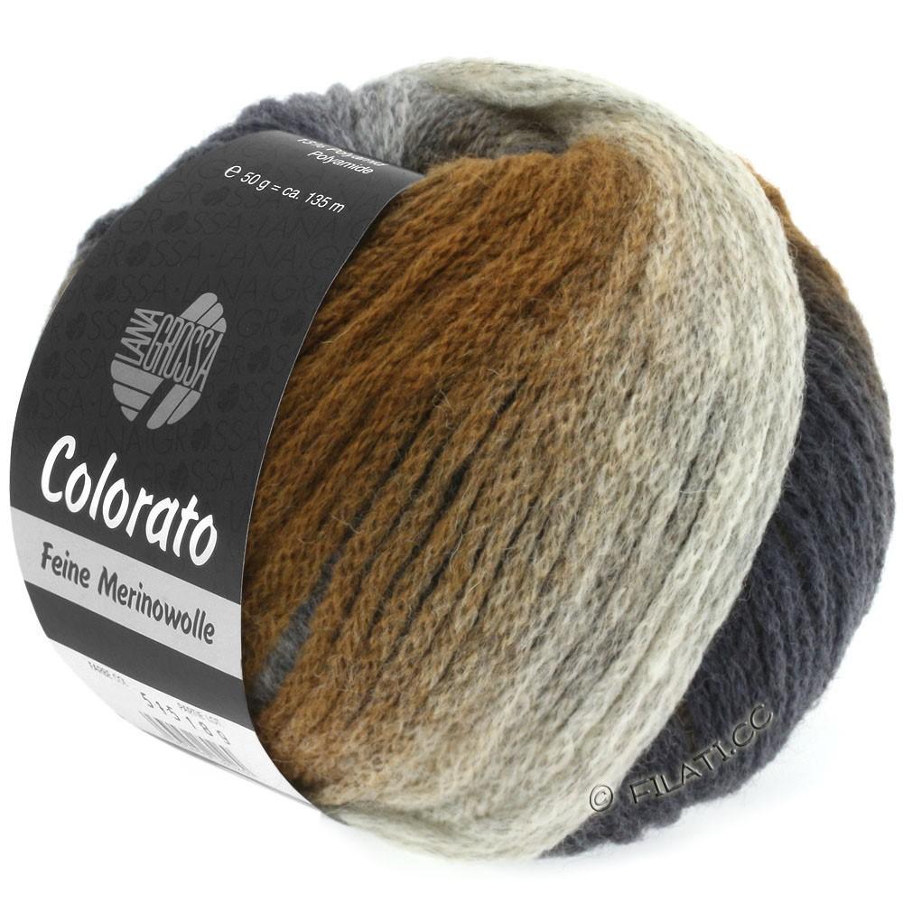 Lana Grossa COLORATO | 005-grège/brun clair/brun moyen/brun foncé/brun noir