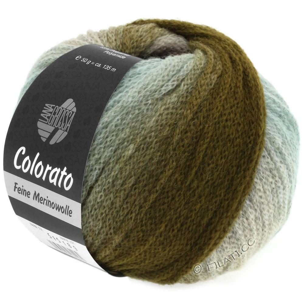 Lana Grossa COLORATO | 006-menthe/kaki/moka/brun noir