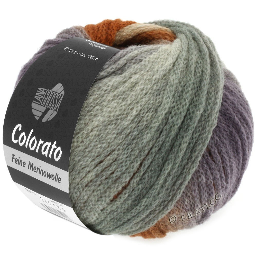 Lana Grossa COLORATO | 007-gris clair/gris foncé/rose/chameau/brun gris