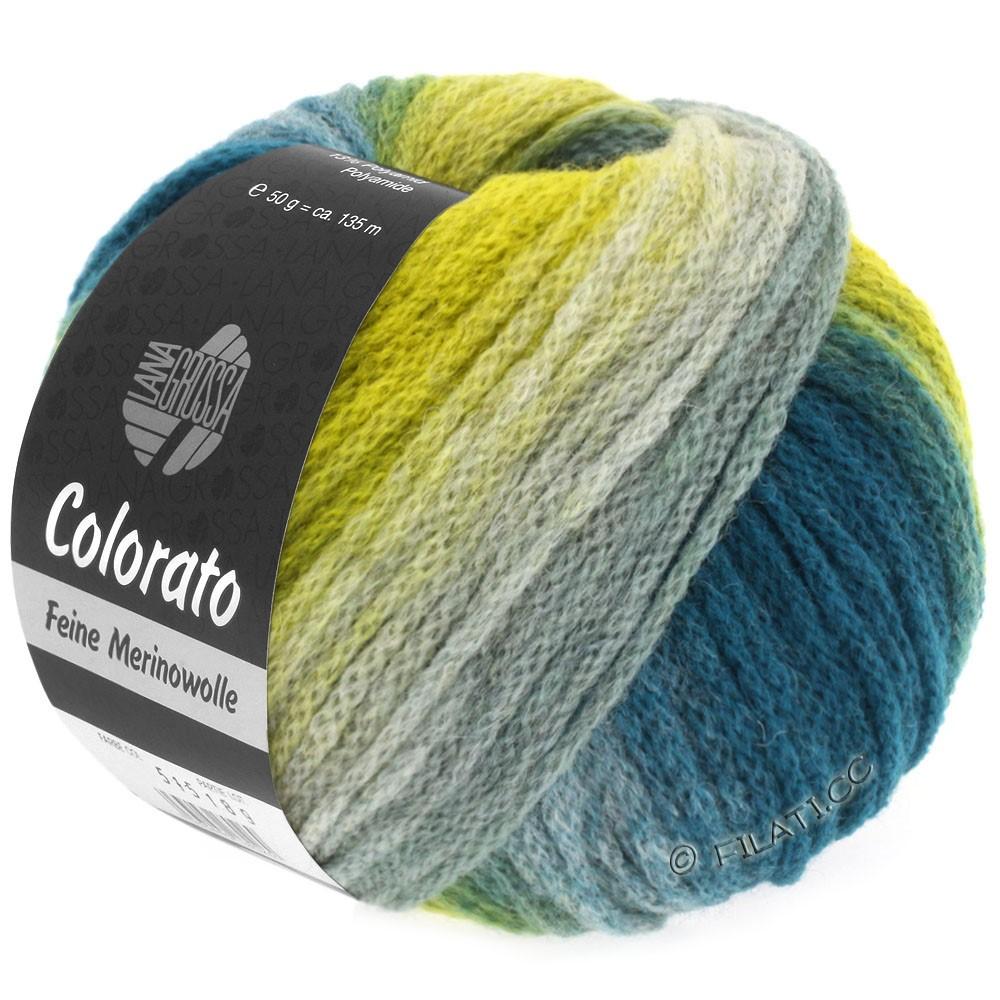 Lana Grossa COLORATO | 008-jaune/vert/pétrole/gris vert/gris vert