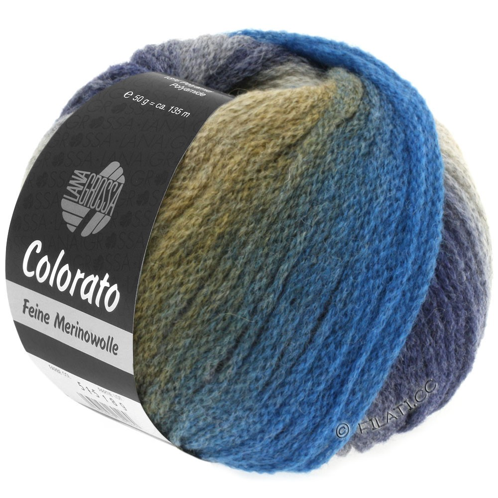 Lana Grossa COLORATO | 009-grège/brun/bleu/baies/lilas