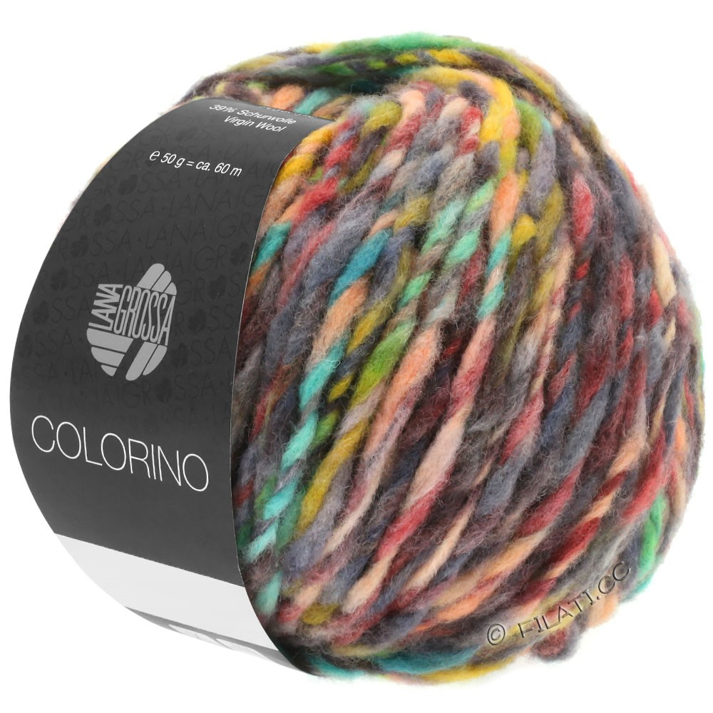 Lana Grossa COLORINO | 01-rouge/vert/gris/beige/anthracite