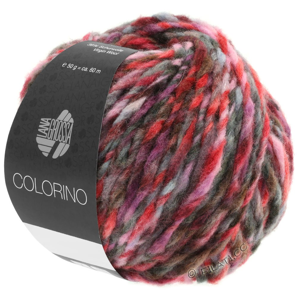 Lana Grossa COLORINO | 03-rouge/rose/gris/bourgogne/anthracite