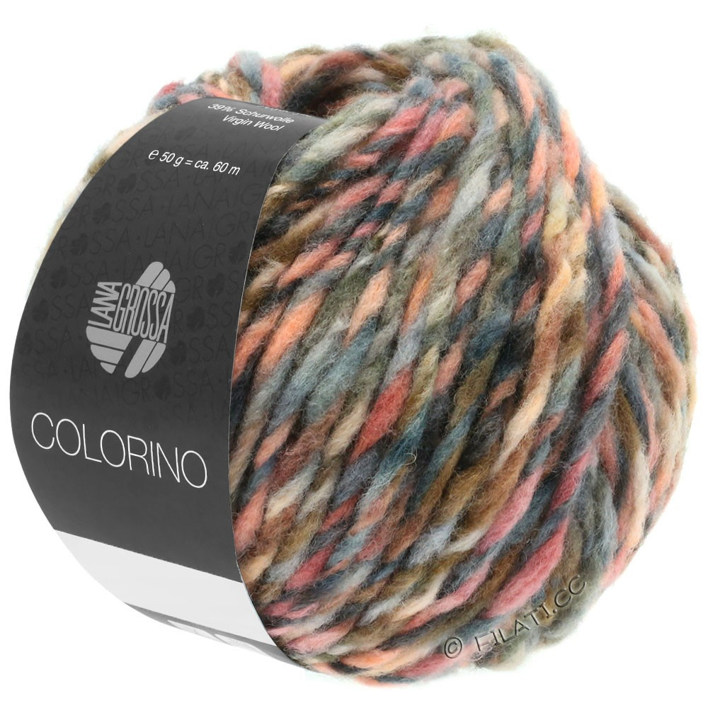 Lana Grossa COLORINO | 04-pourpre rouge/rose/bourgogne/gris