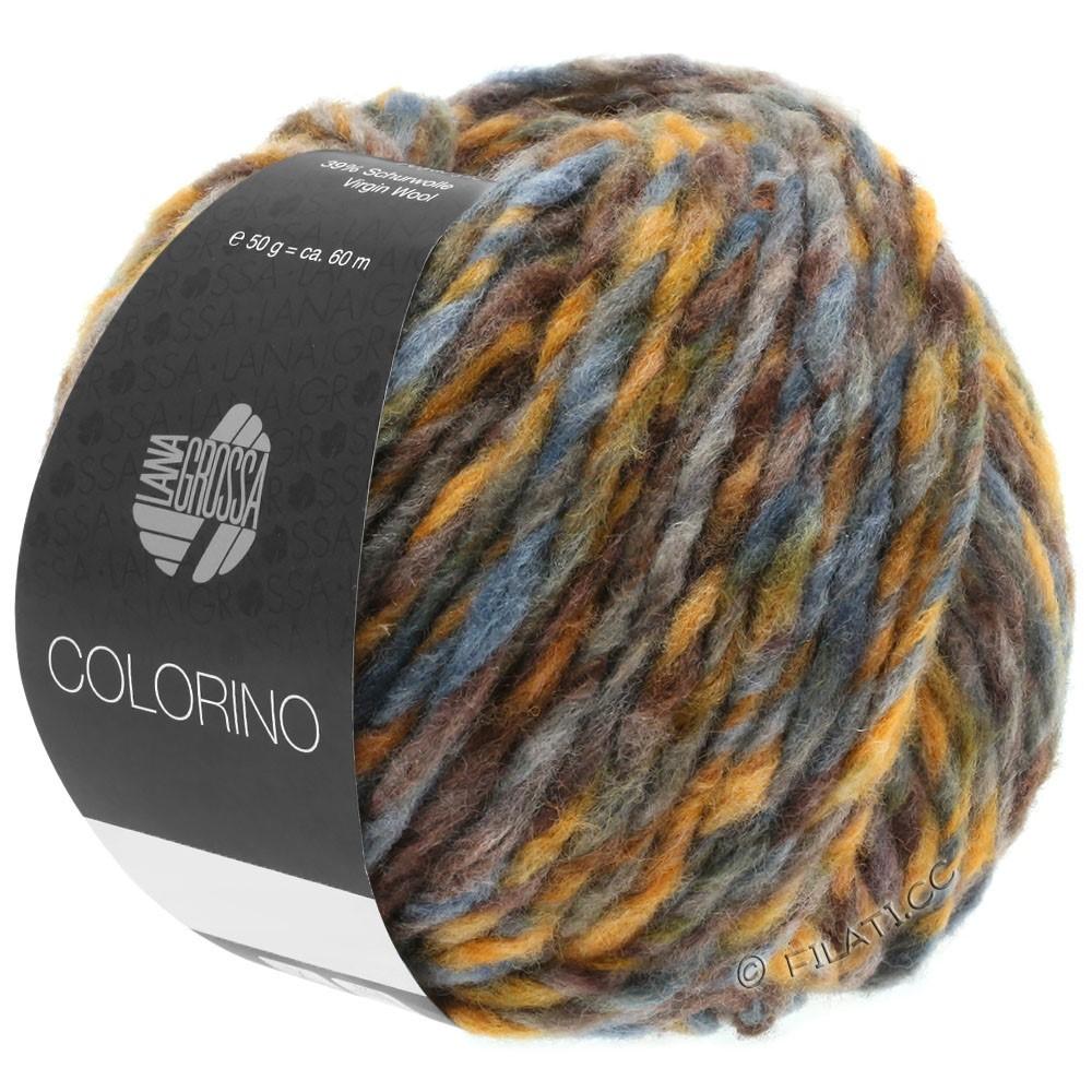 Lana Grossa COLORINO | 05-brun/ocre/bleu gris/gris vert