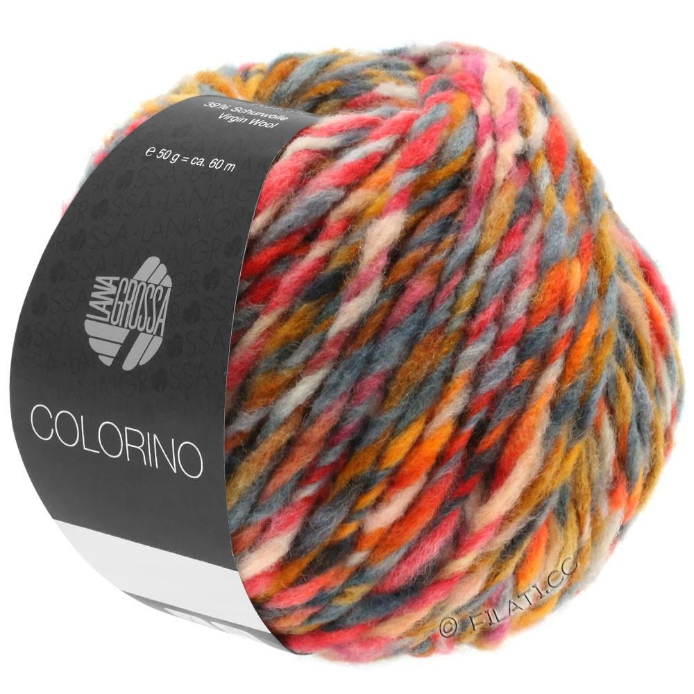 Lana Grossa COLORINO | 06-orange/chameau/brun foncé/gris