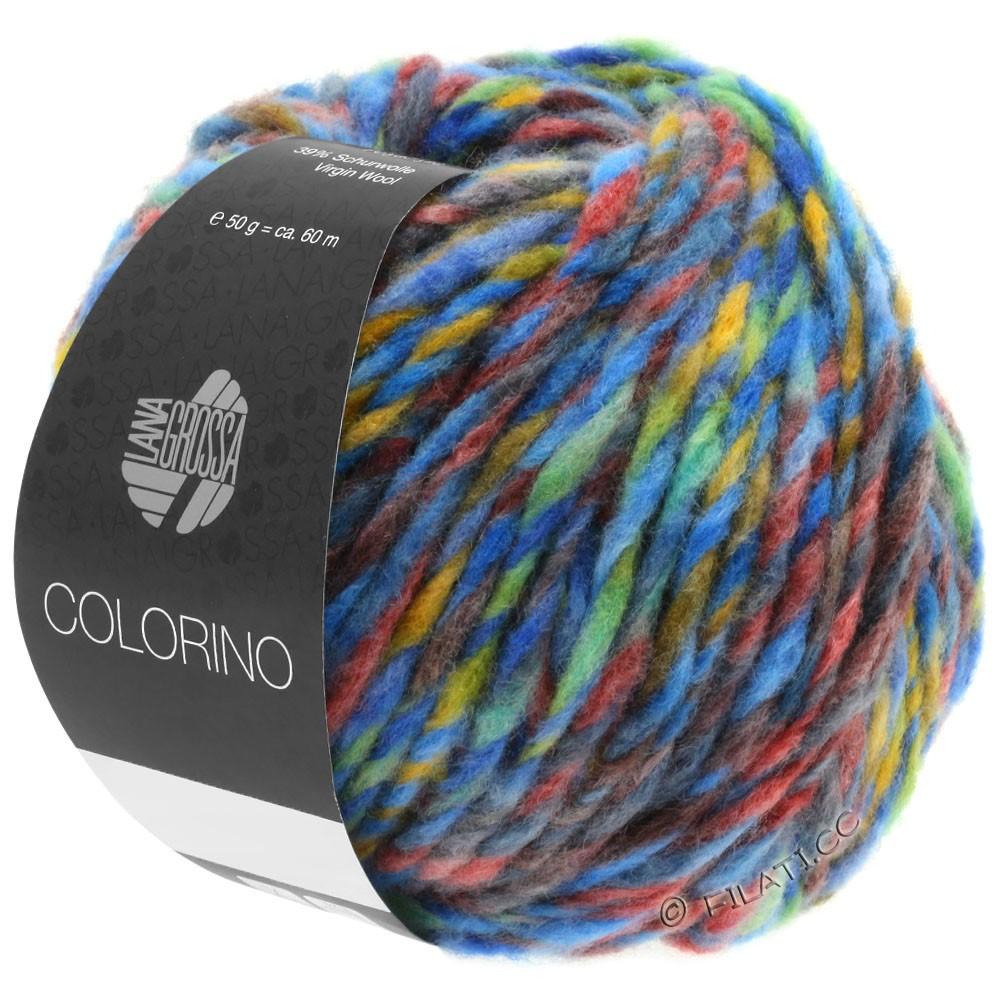 Lana Grossa COLORINO | 07-bleu/vert/terre cuite/turquoise/anthracite