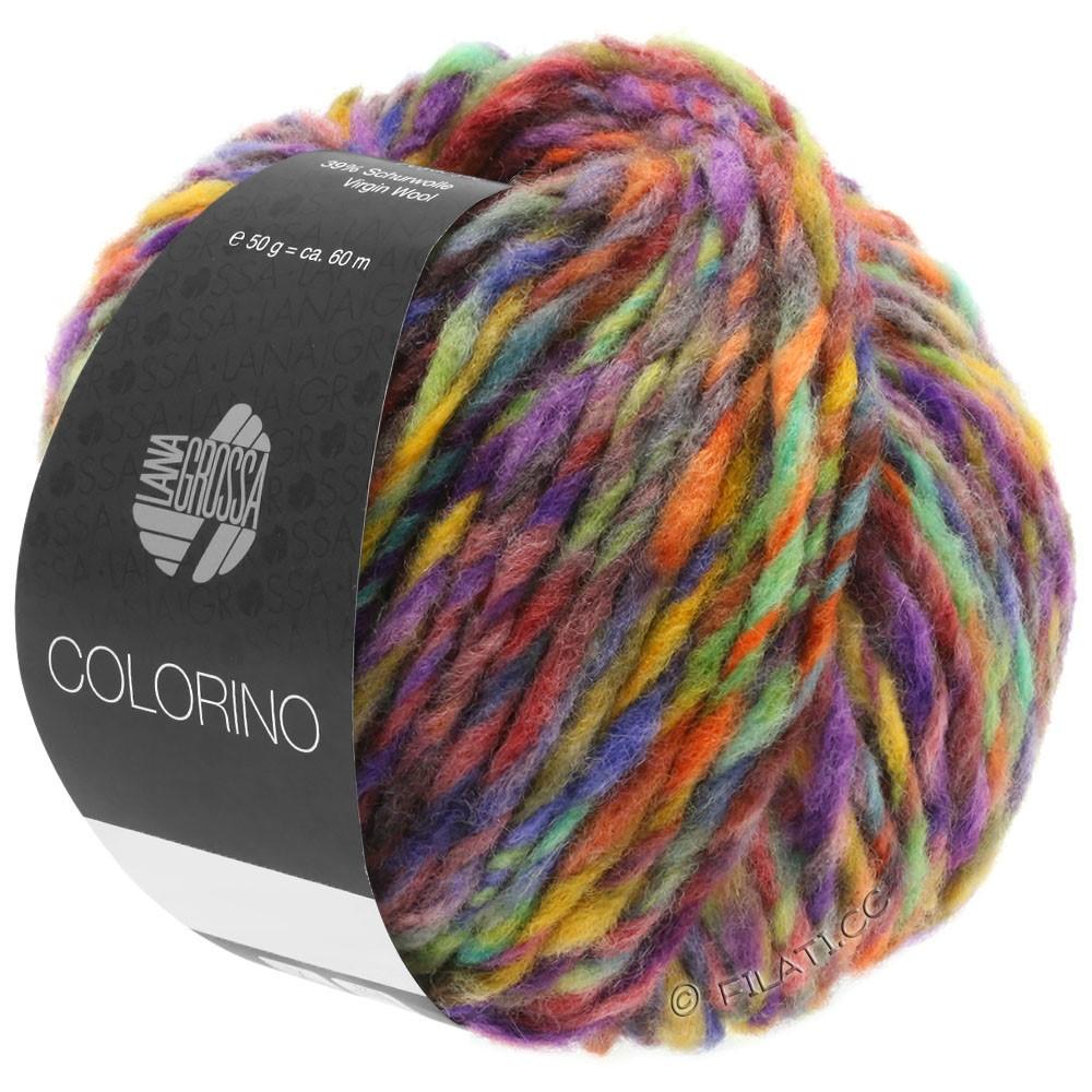 Lana Grossa COLORINO | 09-violet rouge/violet bleu/pétrole/ocre/brun foncé