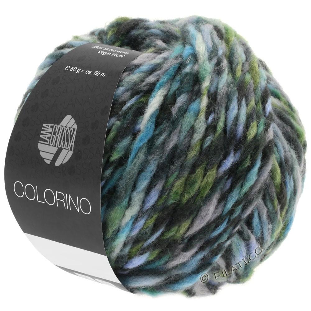 Lana Grossa COLORINO | 10-gris/anthracite/bleu clair/gris vert